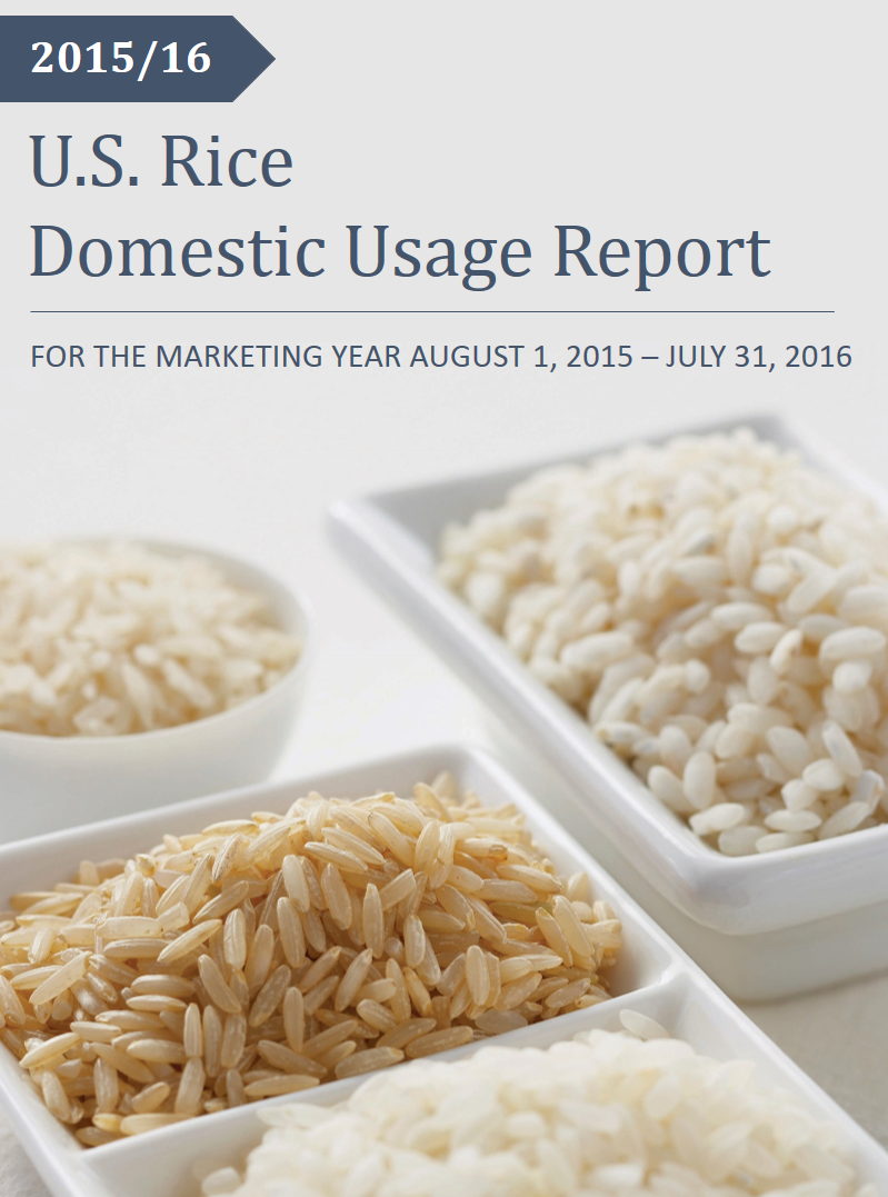 2015/16 U.S. Rice Domestic Usage Report